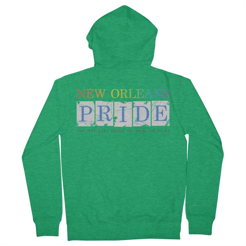 2017 logo items Men's French Terry Zip-Up Hoody by New Orleans Pride