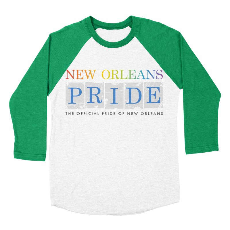 2017 logo items Women's Baseball Triblend Longsleeve T-Shirt by New Orleans Pride