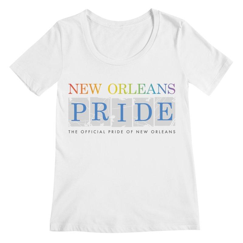 2017 logo items Women's Regular Scoop Neck by New Orleans Pride