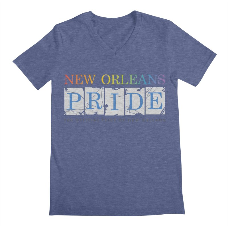 2017 logo items Men's Regular V-Neck by New Orleans Pride
