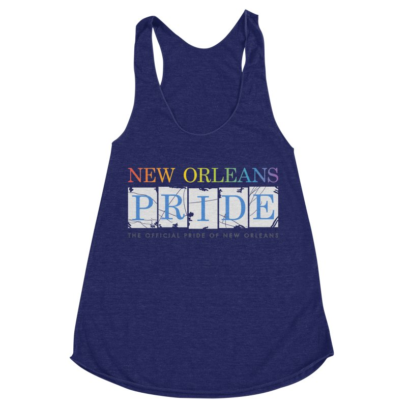 2017 logo items Women's Racerback Triblend Tank by New Orleans Pride