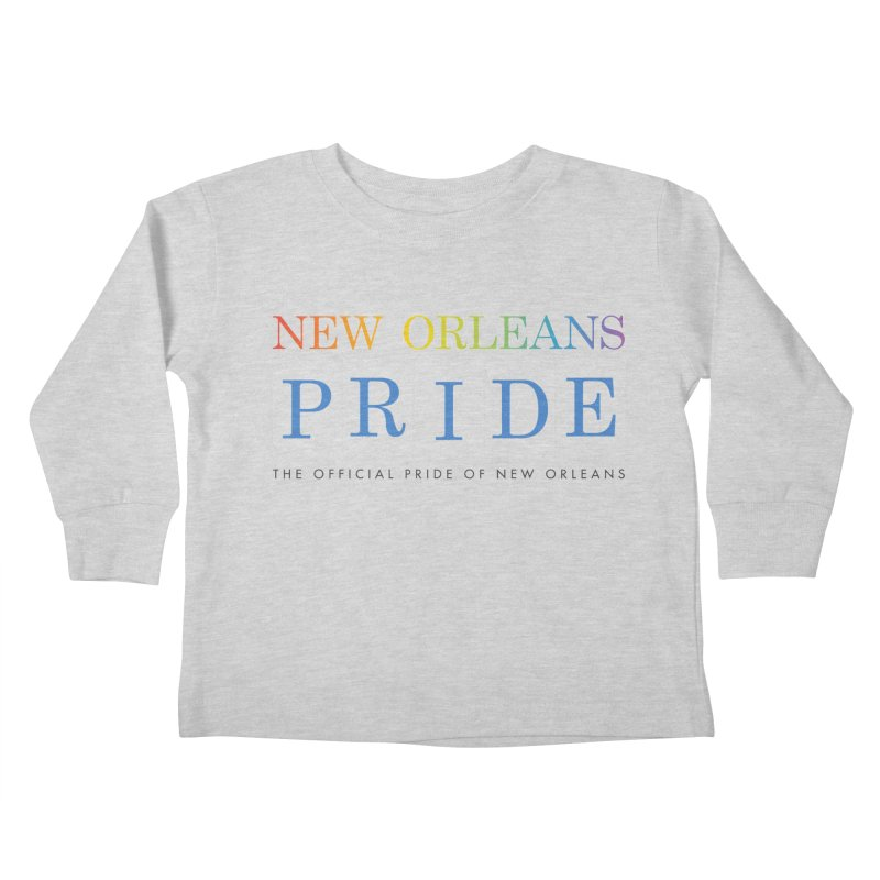 2017 logo items Kids Toddler Longsleeve T-Shirt by New Orleans Pride