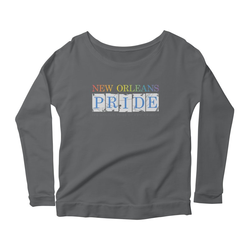 2017 logo items Women's Scoop Neck Longsleeve T-Shirt by New Orleans Pride