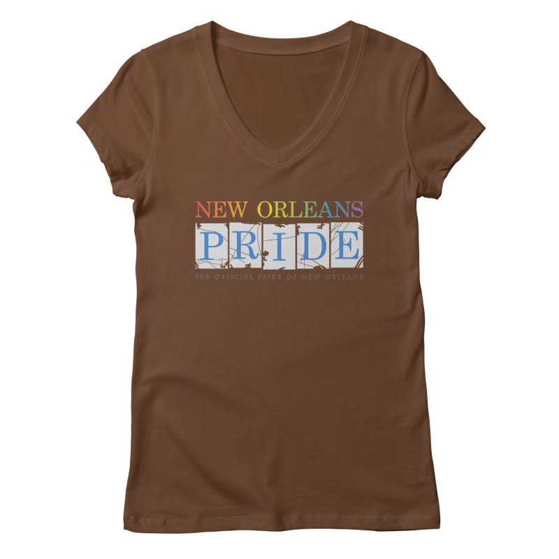 2017 logo items Women's Regular V-Neck by New Orleans Pride