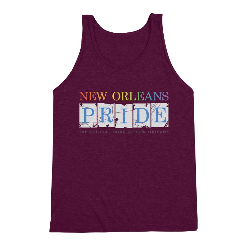 2017 logo items Men's Triblend Tank by New Orleans Pride