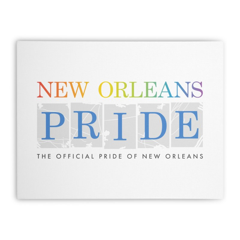 2017 logo items Home Stretched Canvas by New Orleans Pride