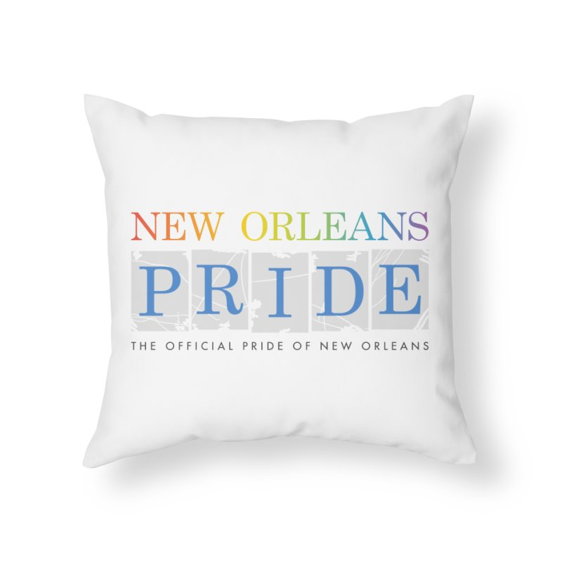 2017 logo items Home Throw Pillow by New Orleans Pride