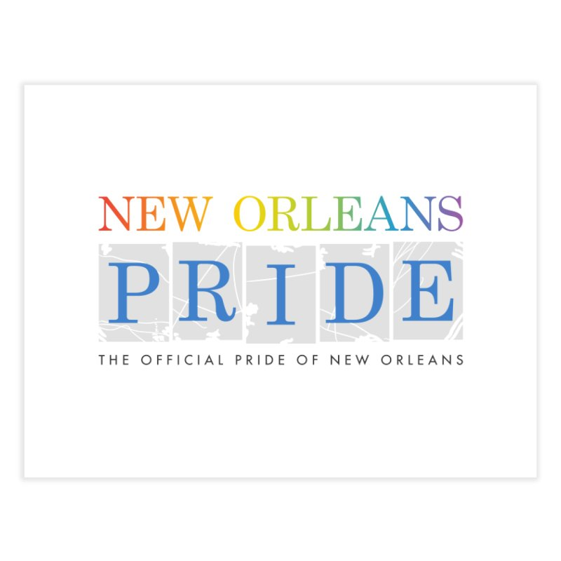 2017 logo items Home Fine Art Print by New Orleans Pride