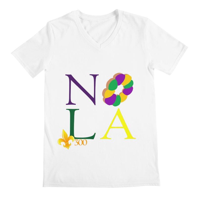 Mardi Gras T-Shirt Design Contest Winner Men's V-Neck by New Orleans Pride