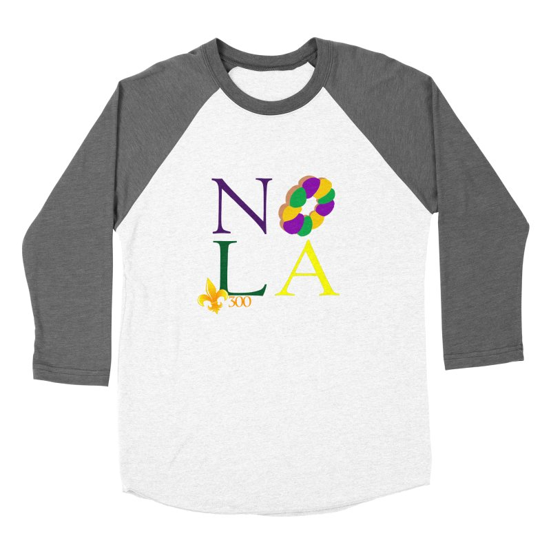Mardi Gras T-Shirt Design Contest Winner Women's Longsleeve T-Shirt by New Orleans Pride