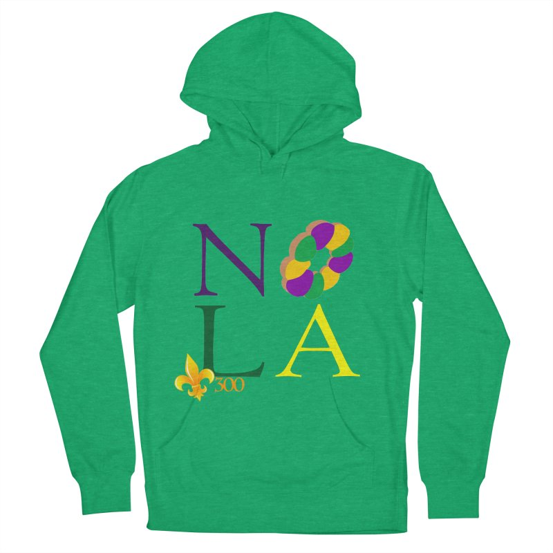 Mardi Gras T-Shirt Design Contest Winner Women's French Terry Pullover Hoody by New Orleans Pride