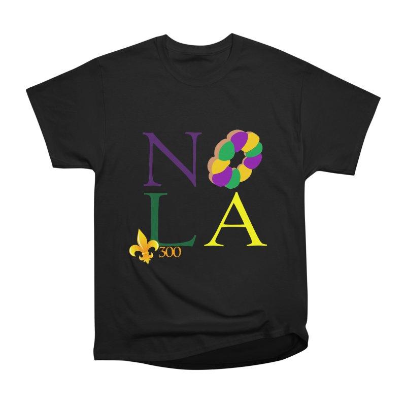 Mardi Gras T-Shirt Design Contest Winner Women's Heavyweight Unisex T-Shirt by New Orleans Pride