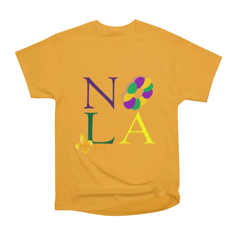 Mardi Gras T-Shirt Design Contest Winner Men's Heavyweight T-Shirt by New Orleans Pride