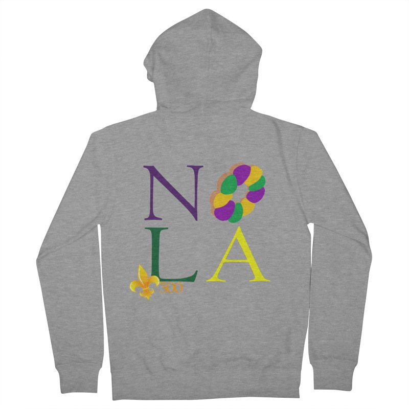 Mardi Gras T-Shirt Design Contest Winner Women's French Terry Zip-Up Hoody by New Orleans Pride