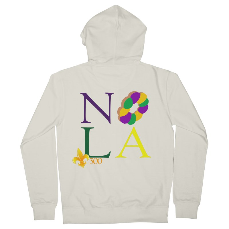 Mardi Gras T-Shirt Design Contest Winner Men's French Terry Zip-Up Hoody by New Orleans Pride