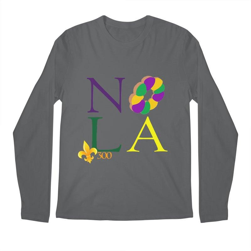 Mardi Gras T-Shirt Design Contest Winner Men's Regular Longsleeve T-Shirt by New Orleans Pride