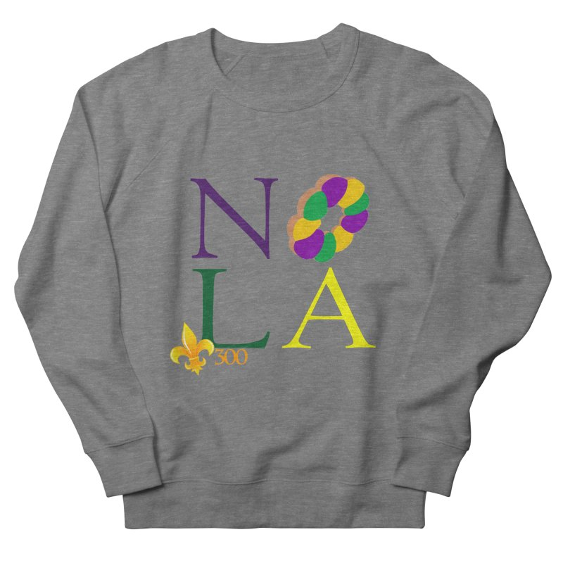 Mardi Gras T-Shirt Design Contest Winner Men's French Terry Sweatshirt by New Orleans Pride