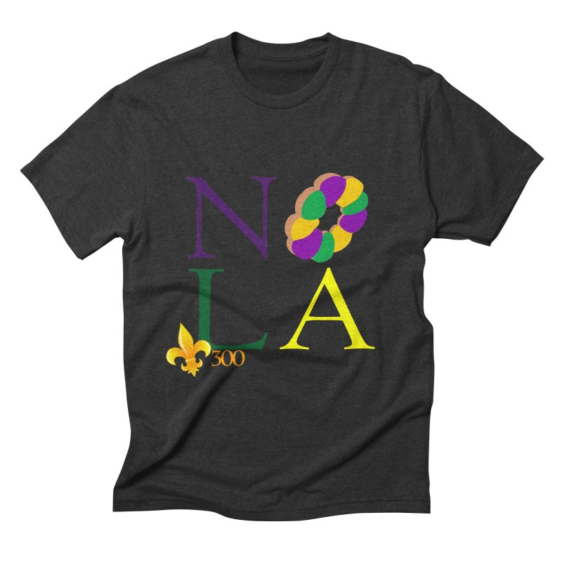 Mardi Gras T-Shirt Design Contest Winner Men's Triblend T-Shirt by New Orleans Pride