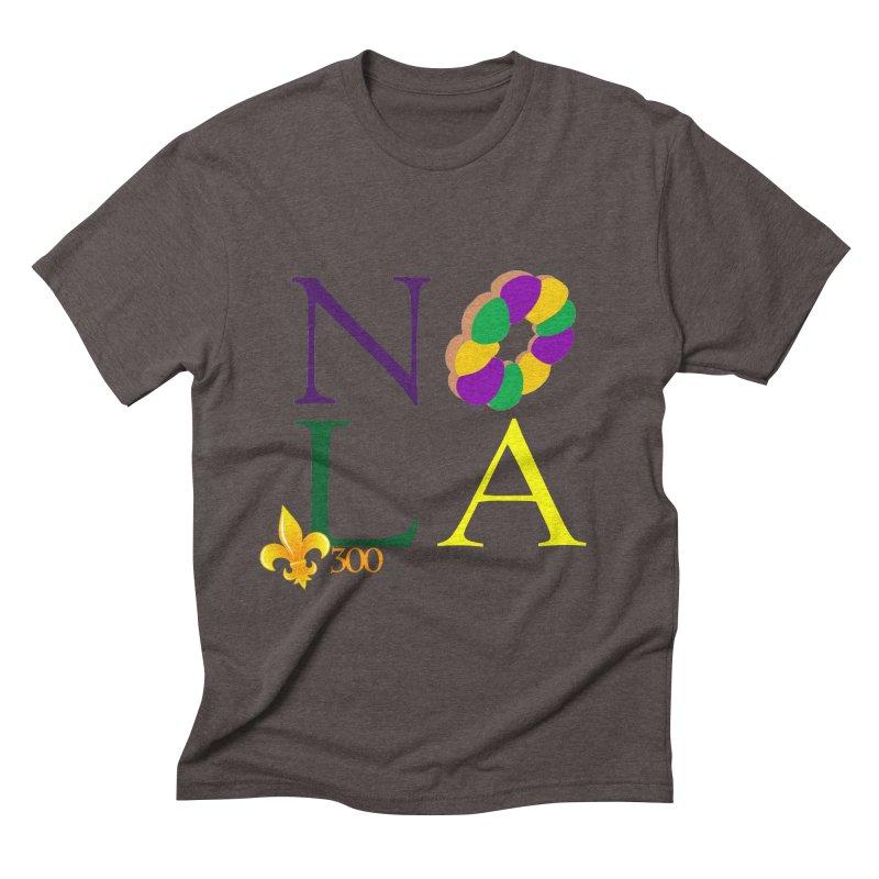 Mardi Gras T-Shirt Design Contest Winner Men's Triblend T-Shirt by New Orleans Pride