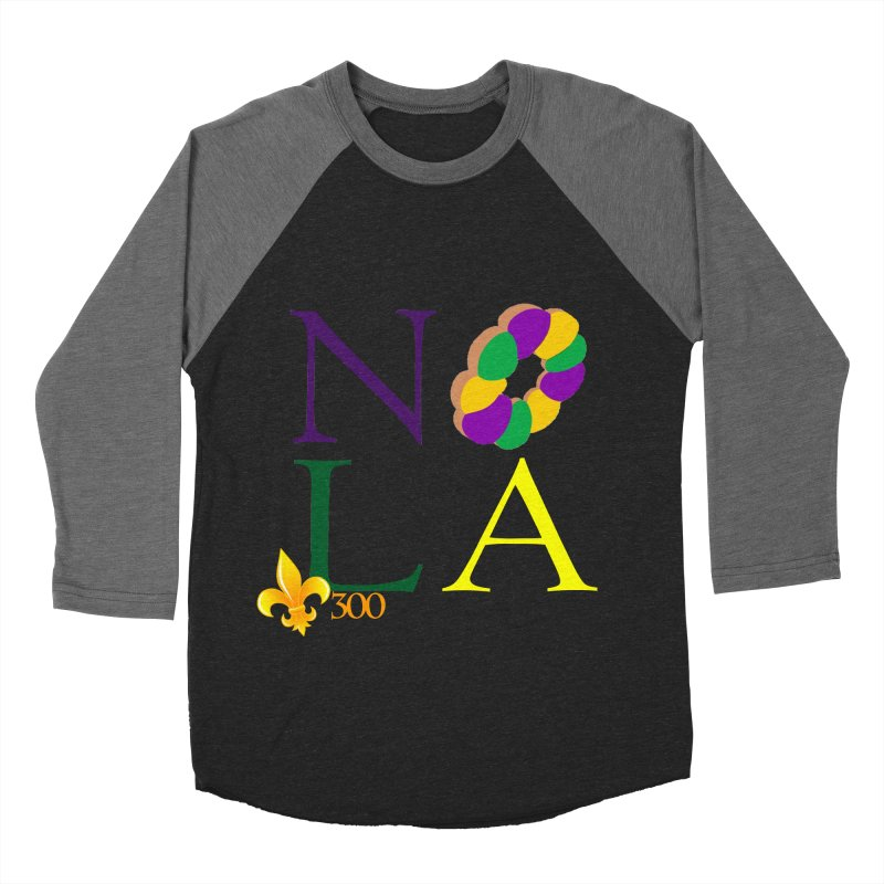 Mardi Gras T-Shirt Design Contest Winner Women's Baseball Triblend Longsleeve T-Shirt by New Orleans Pride