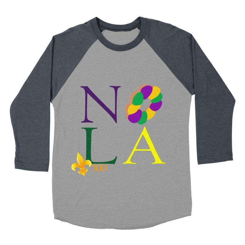 Mardi Gras T-Shirt Design Contest Winner Men's Baseball Triblend Longsleeve T-Shirt by New Orleans Pride