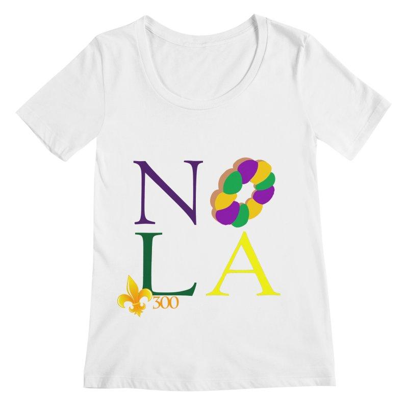 Mardi Gras T-Shirt Design Contest Winner Women's Regular Scoop Neck by New Orleans Pride
