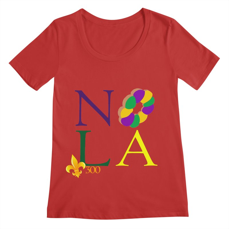 Mardi Gras T-Shirt Design Contest Winner Women's Regular Scoop Neck by New Orleans Pride