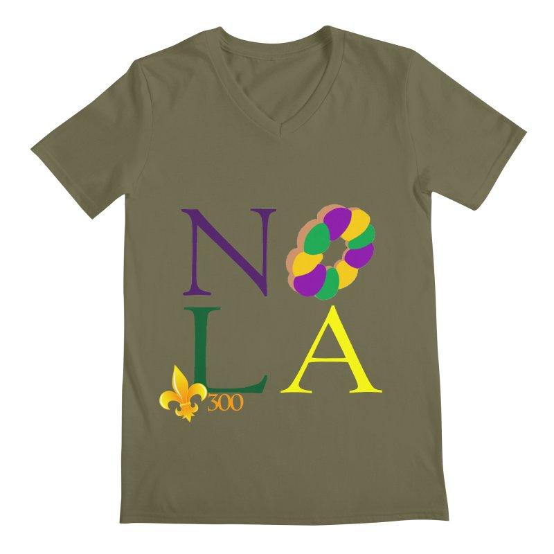 Mardi Gras T-Shirt Design Contest Winner Men's Regular V-Neck by New Orleans Pride
