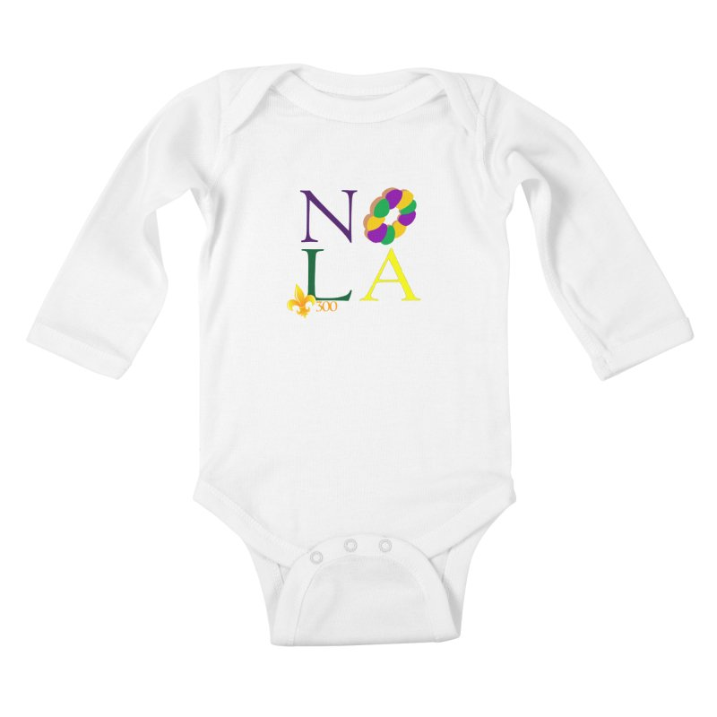 Mardi Gras T-Shirt Design Contest Winner Kids Baby Longsleeve Bodysuit by New Orleans Pride
