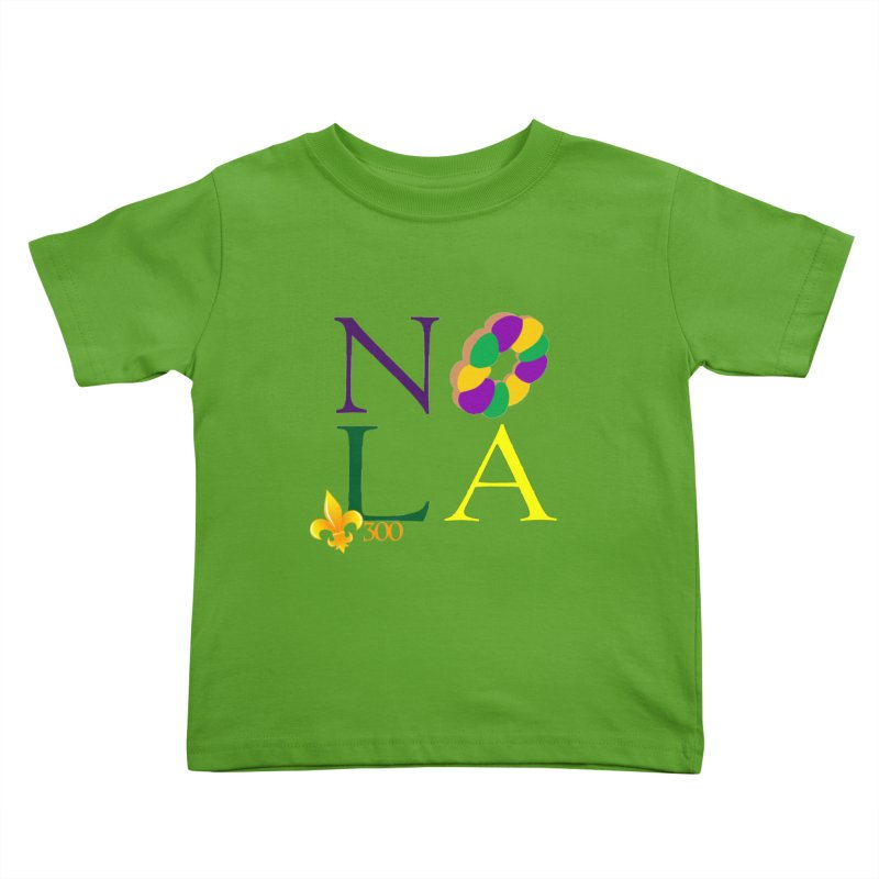 Mardi Gras T-Shirt Design Contest Winner Kids Toddler T-Shirt by New Orleans Pride