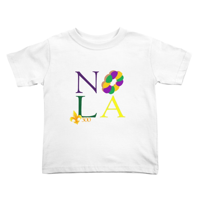 Mardi Gras T-Shirt Design Contest Winner Kids Toddler T-Shirt by New Orleans Pride