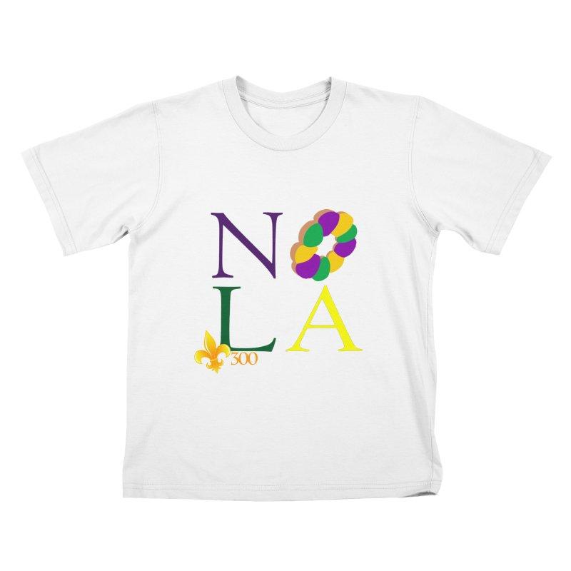 Mardi Gras T-Shirt Design Contest Winner Kids T-Shirt by New Orleans Pride