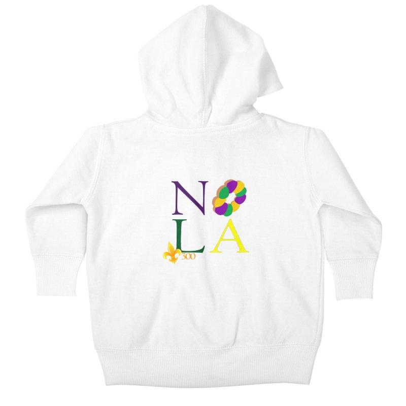 Mardi Gras T-Shirt Design Contest Winner Kids Baby Zip-Up Hoody by New Orleans Pride