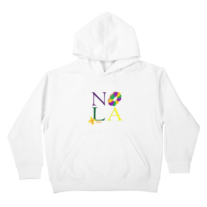 Mardi Gras T-Shirt Design Contest Winner Kids Pullover Hoody by New Orleans Pride