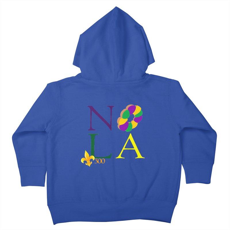 Mardi Gras T-Shirt Design Contest Winner Kids Toddler Zip-Up Hoody by New Orleans Pride