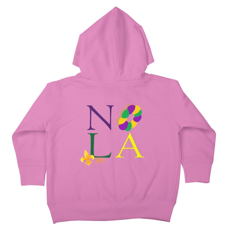 Mardi Gras T-Shirt Design Contest Winner Kids Toddler Zip-Up Hoody by New Orleans Pride
