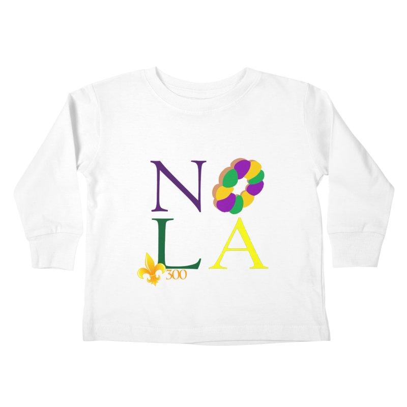 Mardi Gras T-Shirt Design Contest Winner Kids Toddler Longsleeve T-Shirt by New Orleans Pride