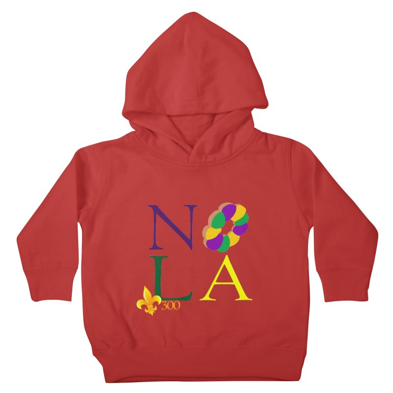 Mardi Gras T-Shirt Design Contest Winner Kids Toddler Pullover Hoody by New Orleans Pride