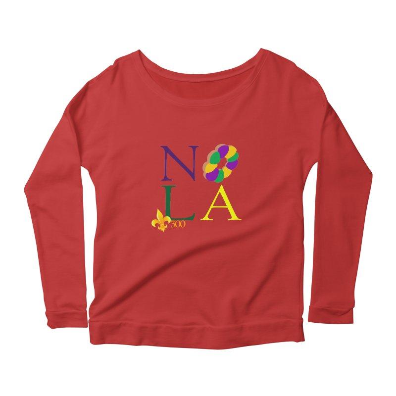 Mardi Gras T-Shirt Design Contest Winner Women's Scoop Neck Longsleeve T-Shirt by New Orleans Pride