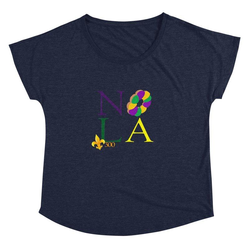 Mardi Gras T-Shirt Design Contest Winner Women's Dolman Scoop Neck by New Orleans Pride