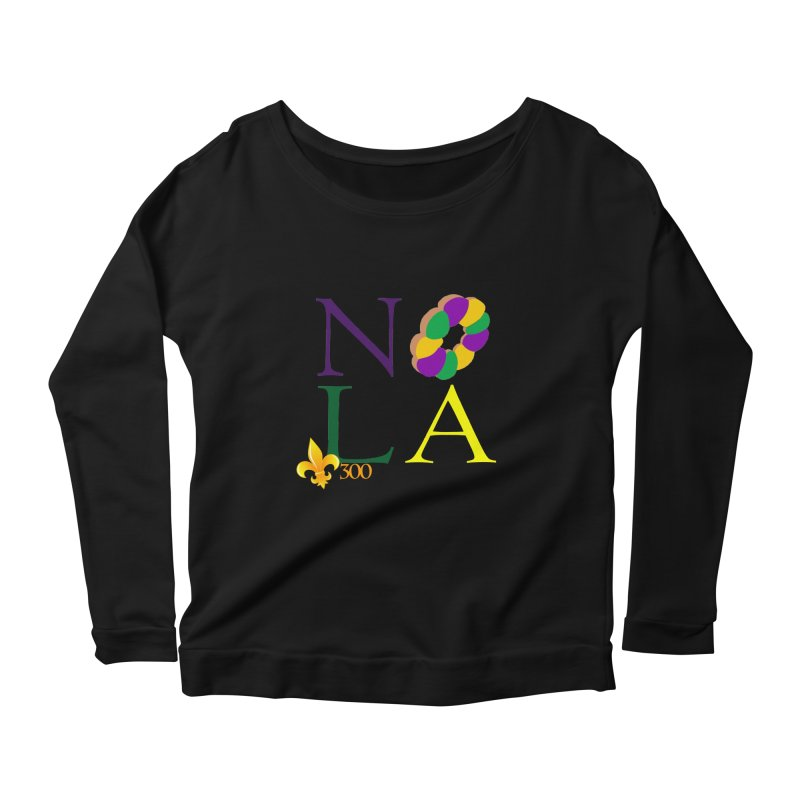 Mardi Gras T-Shirt Design Contest Winner Women's Scoop Neck Longsleeve T-Shirt by New Orleans Pride