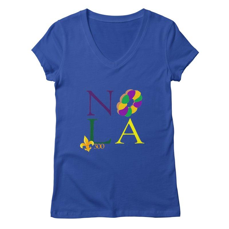 Mardi Gras T-Shirt Design Contest Winner Women's Regular V-Neck by New Orleans Pride