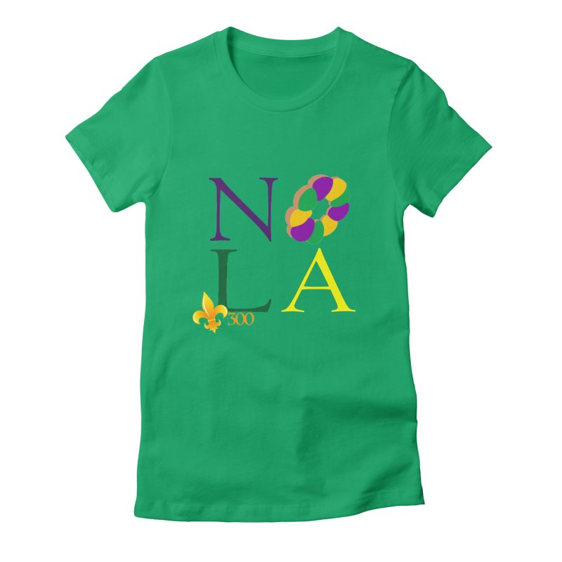 Mardi Gras T-Shirt Design Contest Winner Women's Fitted T-Shirt by New Orleans Pride