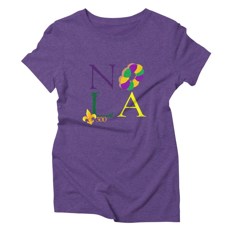 Mardi Gras T-Shirt Design Contest Winner Women's Triblend T-Shirt by New Orleans Pride