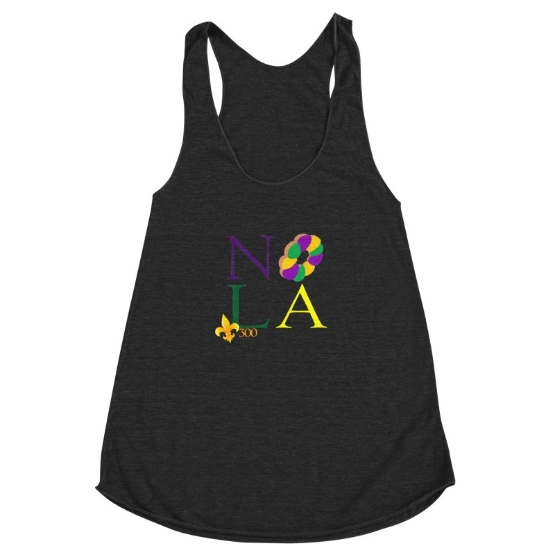 Mardi Gras T-Shirt Design Contest Winner Women's Racerback Triblend Tank by New Orleans Pride
