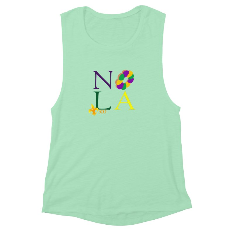Mardi Gras T-Shirt Design Contest Winner Women's Muscle Tank by New Orleans Pride