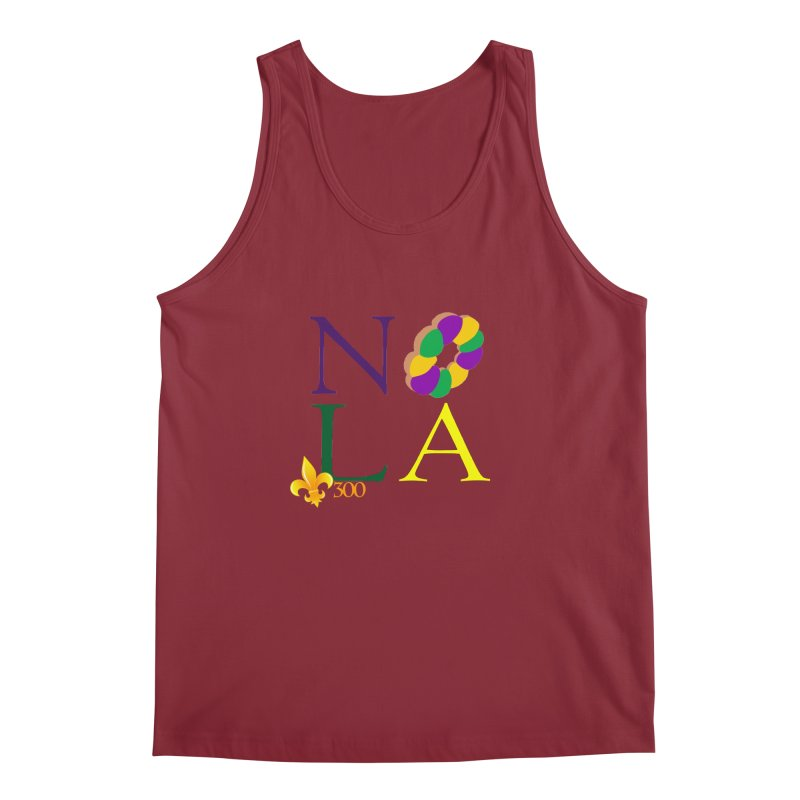 Mardi Gras T-Shirt Design Contest Winner Men's Regular Tank by New Orleans Pride