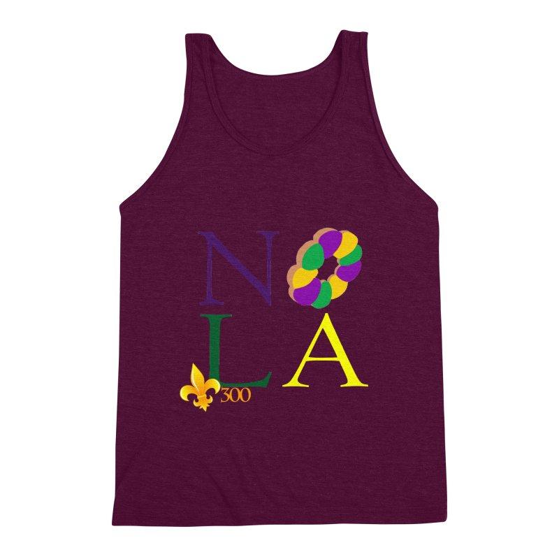 Mardi Gras T-Shirt Design Contest Winner Men's Triblend Tank by New Orleans Pride