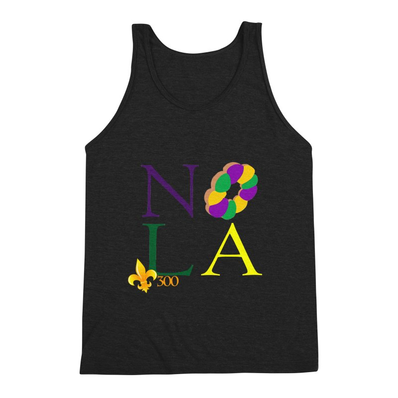 Mardi Gras T-Shirt Design Contest Winner Men's Triblend Tank by New Orleans Pride