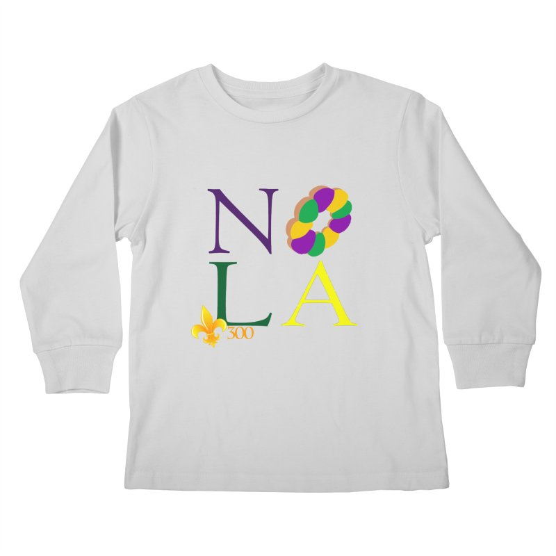 Mardi Gras T-Shirt Design Contest Winner Kids Longsleeve T-Shirt by New Orleans Pride